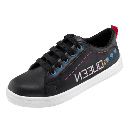 Generic-Women-Black-Color-Leatherette-Material-Casual-Sneakers-25550