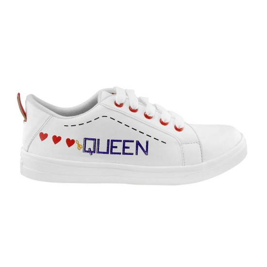 Generic-Women-White-Red-Color-Leatherette-Material-Casual-Sneakers-25553