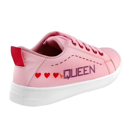 Generic-Women-Pink-Color-Leatherette-Material-Casual-Sneakers-25552