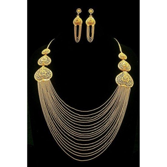 Generic Copper, Gold Color Jewellery set for Women-29694