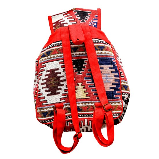Generic Women's Ethnic Rajasthani Cotton Bag Pack (Red)