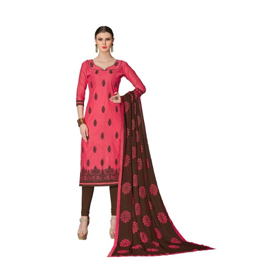Chanderi-Fabric-Deep-Red-Color-Dress-Material-16196